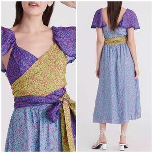 Tanya Taylor Tiegan Midi Dress Confetti Sz 12